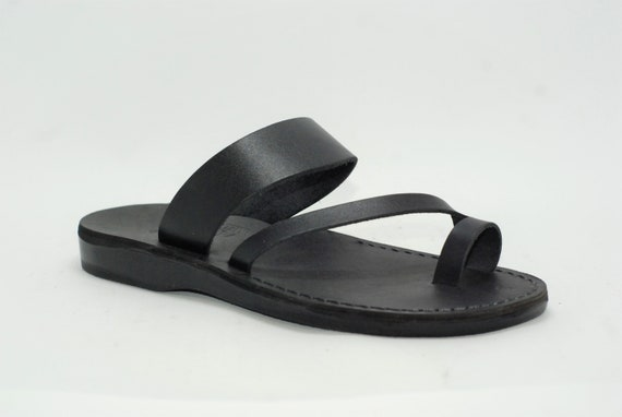Jesus sandals Jesus sandals, black leather sandals for women, greek sandals, slippers men summer flat sandals mens sandals FREE SHIPPING