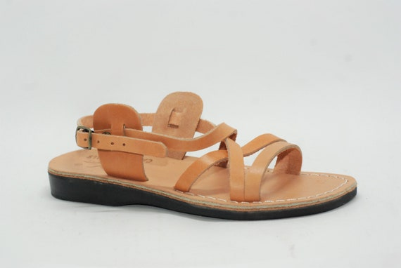 leather sandals for women, greek sandals, flat sandals, strappy sandals, greece sandals, brown leather sandals ** FREE SHIPPING **