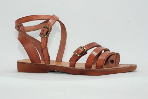 5c2deeb13 tan leather sandals greek sandals leather sandals women
