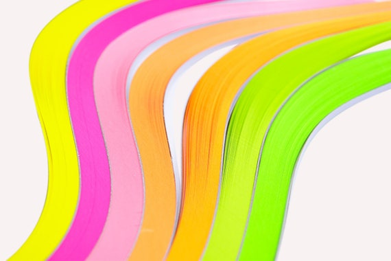 Paper Quilling Diy Handmade Crafts Fluorescence Color 100 Etsy