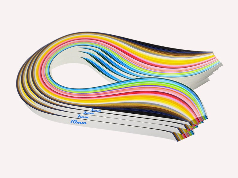 Paper Quilling Diy Handmade Crafts 36 Color Mixing 180 Strips Etsy