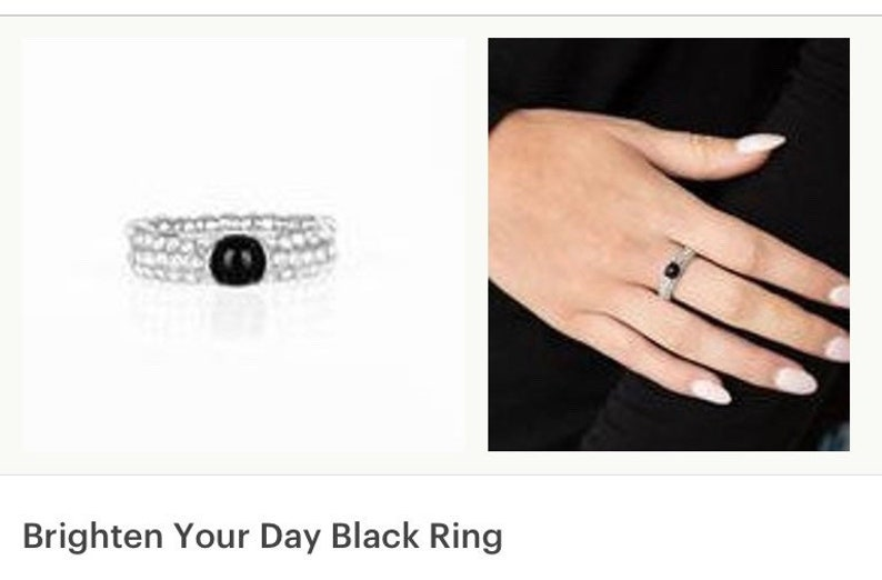 Brighten Your Day Black Ring