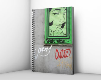 Artists Sketch Pad with Teal Industrial Style Cover 100gsm Cartridge Paper