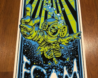 Foam (blue variant) print