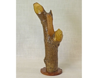 Vase Carved From a Beaver-Chewed Log