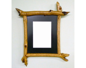 8 X 10 Picture Frame Made From Beaver-Chewed Sticks