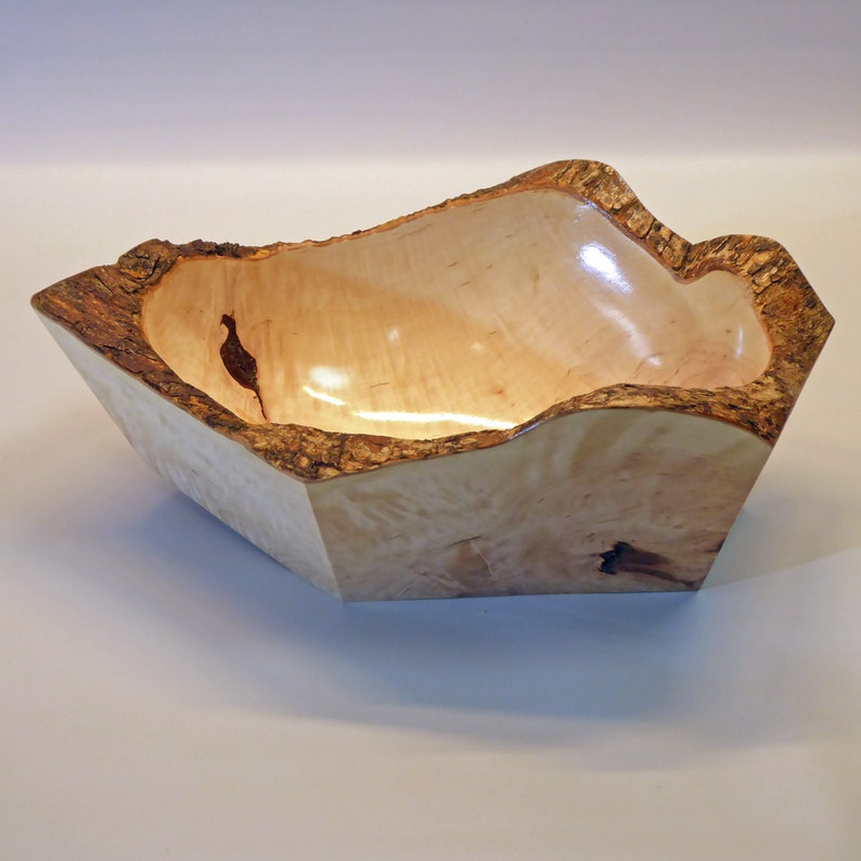 Natural  Edge Root Wood Bowl image 0