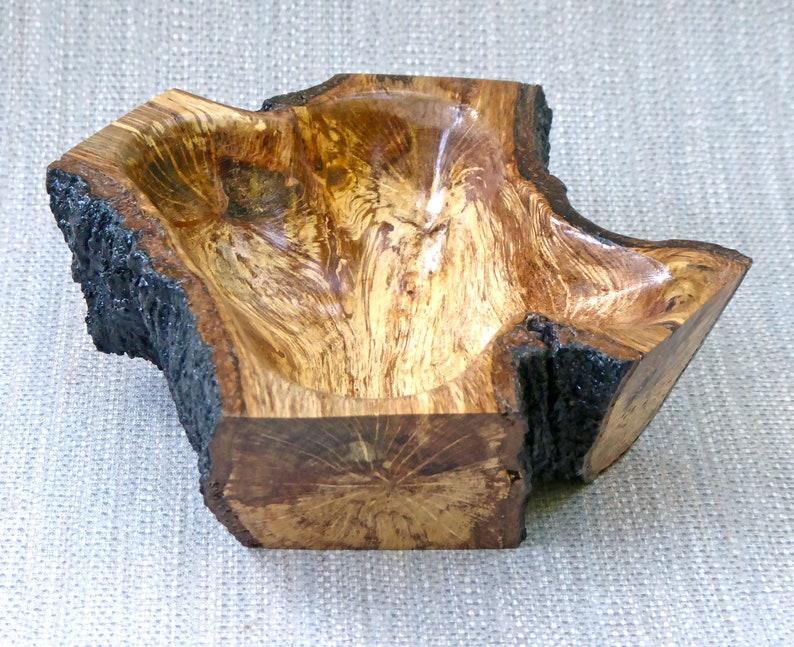 Natural Edge Root Wood Bowl image 0