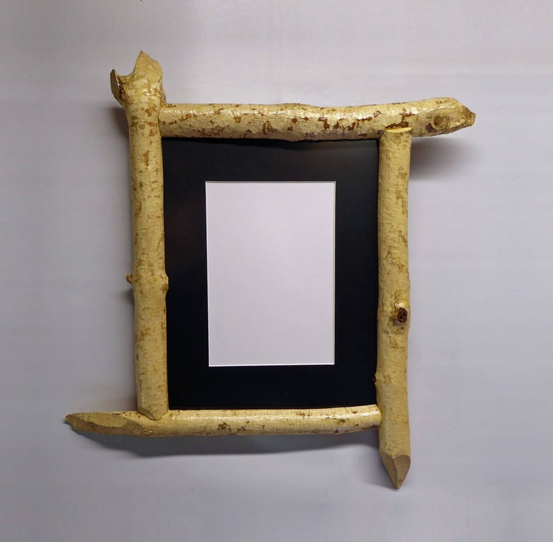 8 X 10 Picture Frame Made From Beaver-Chewed Sticks image 0