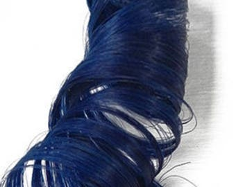 Indigo Blue Clip in Human Hair Extensions Colorful Mermaid Highlights Style