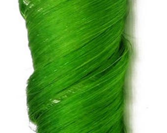 Lime Neon Green Clip in Human Hair Extensions For Colorful Highlights Styles and Rainbow Hair