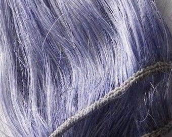 Cool Tone Purple Rainbow Clip in Human Hair Extensions Periwinkle Lavender Highlights