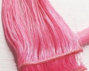 """8"""" - 24"""" Cotton Candy Pink Clip in Human Hair Extensions Highlights to Create Colorful Styles"""