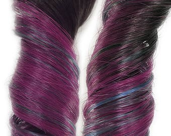 Rainbow Ombre Clip in Human Hair Extensions Fuschia Pink and Turquoise Blue  READY TO SHIP
