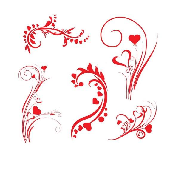 Herz Svg Valentine Ornament Svg Herzen Clipart Svg Herzen