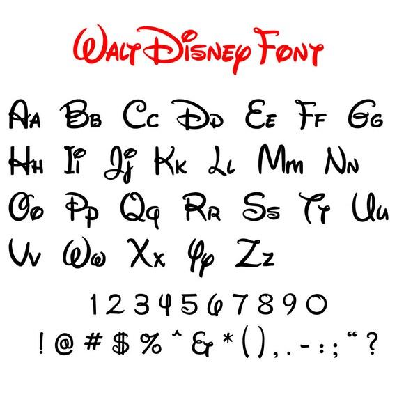 Sammlung von disney schriftarten svg disney alphabet svg etsy - Lettre disney ...