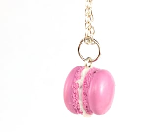 Pink macaroon necklace