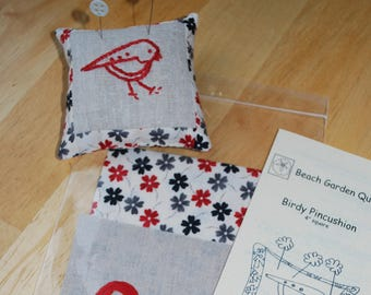 Sewing and Embroidery Kit, Birdy Pincushion Kit