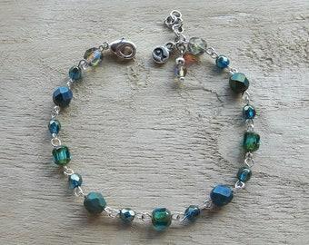 Bracelet of Czech glass beads