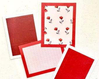 Valentine's Day Postcards - set of four