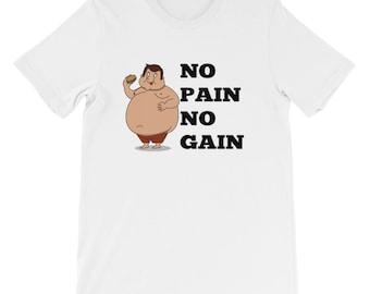 No Pain No Gain shirt T Shirt Gym Exercise outfit motivation black
