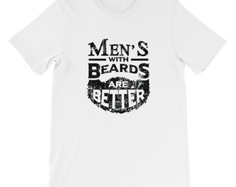 mens with beards black distressed