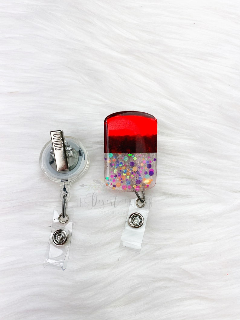 Nurse Badge Reel |Retractable ID Badge Holder |Badge Reels Pediatric Name Badge Holder RN Pill Badge Reel