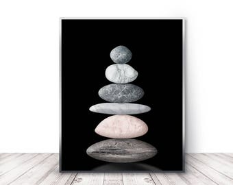 pebbles wall art etsy