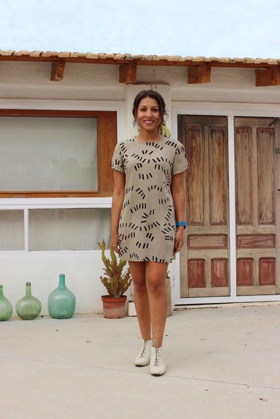 Dusen Dusen patterned oversized tee dress