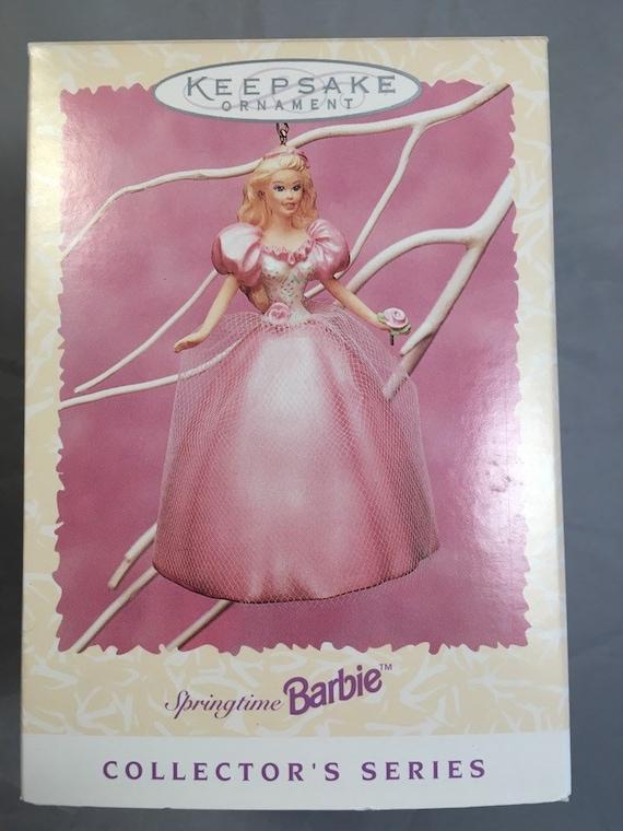 MIB Lot of 5 1996 Hallmark Springtime Barbie Ornament 2rd in Series