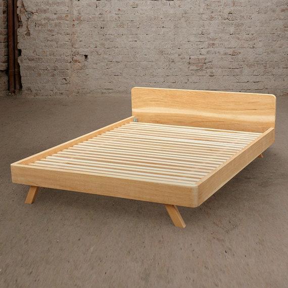 King Bed, Queen Bed, Bed Frame, Walnut Bed, Oak Bed, Danish Modern Bed,  Headboard, Bedroom Furniture