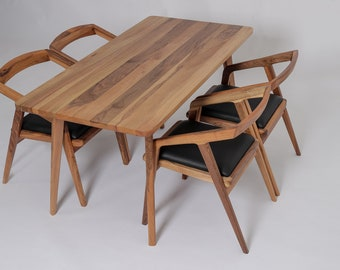 Mid Century Modern Dining Table, Dining Table, Modern Dining Table, Danish Modern, Kitchen Table,Walnut Table