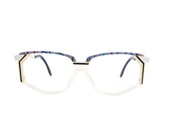 7a1c8053b587 NOS Vintage Cazal Mod 346 Col 744 Gold Marble Eyeglasses Sunglasses Frames  54mm