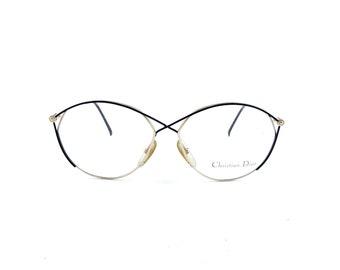 bfb9a78f744 Rare NOS Vintage Christian Dior mod. 2390 col. 49 Black Gold Eyeglasses RX  Frames 59mm 59-14-135 Germany