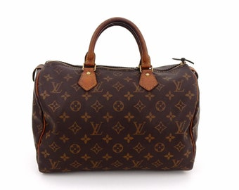 Authentic Vintage Louis Vuitton Speedy 30 Monogram Canvas Leather Boston  Tote Bag 3b41ff2b354a0