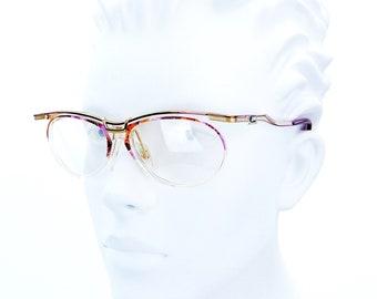 8720424ef822 New NOS Vintage CAZAL Gold Purple Marble MOD 364 col. 809 Eyeglasses  Sunglasses Frames 55mm Rare