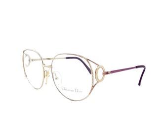 5c15a3e22b5f NOS Vintage Christian Dior 2788 48 Gold Purple Eyeglasses Sunglasses Frames  55mm Austria