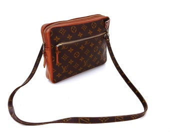 Rare Vintage Louis Vuitton Monogram Canvas Leather Sports Wristlet Clutch a7d73b56da00a