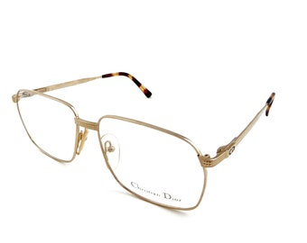 5014608ed37 New Vintage Christian Dior 2424 Gold Eyeglasses Sunglasses Frames 58mm  Austria