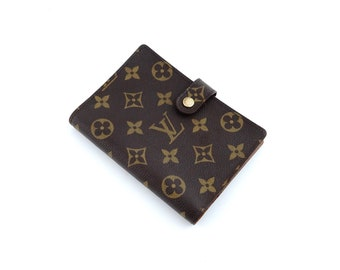 32539348a998 Authentic Louis Vuitton Brown Agenda PM Monogram Canvas Leather Notebook Planner  Cover