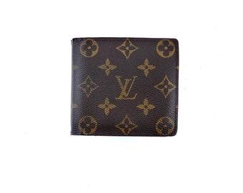 739592efef Authentic Louis Vuitton Mens Brown Monogram Canvas Leather Marco Bifold  Wallet