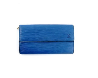 3ec1c9f3536 Rare Authentic Louis Vuitton Vintage International Epi Coated Leather Long  Clutch Checkbook Wallet