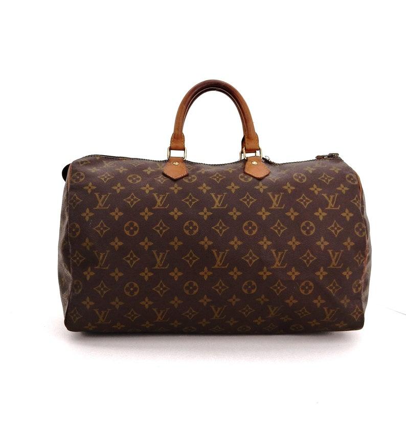 2c50f653597 Authentic Vintage Louis Vuitton Speedy 40 Monogram Canvas Leather Boston  Tote Bag