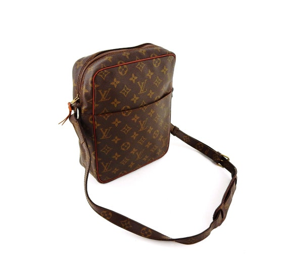 930f7b5696e7 Authentic Vintage Louis Vuitton Brown Monogram Canvas Leather