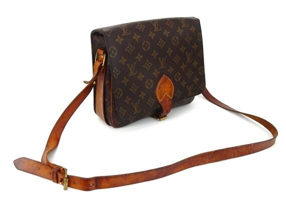 aa8b55f7c937 Authentic Vintage Louis Vuitton Brown Monogram Canvas Leather