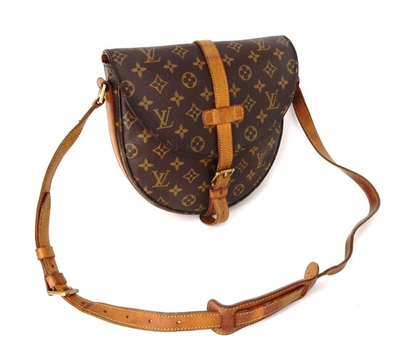 Vintage Louis Vuitton Brown Monogram Canvas Leather Chantilly  1f2aa29db1345