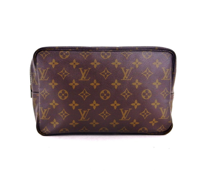 Vintage Louis Vuitton Brown Trousse Toiletry Bag 28 Monogram  90e488dea6265