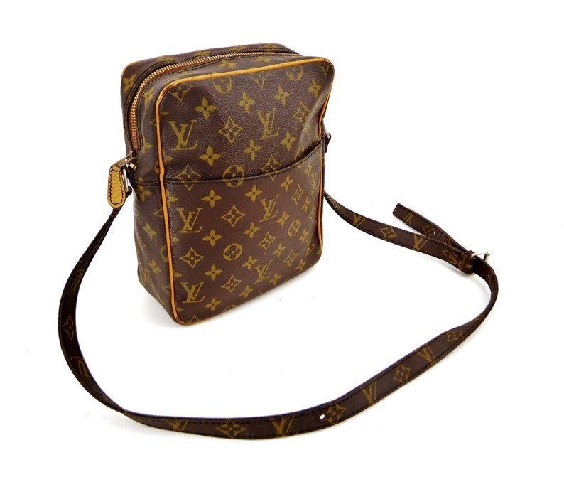3eb3d9e8391e Authentic Vintage Louis Vuitton Brown Monogram Canvas Leather