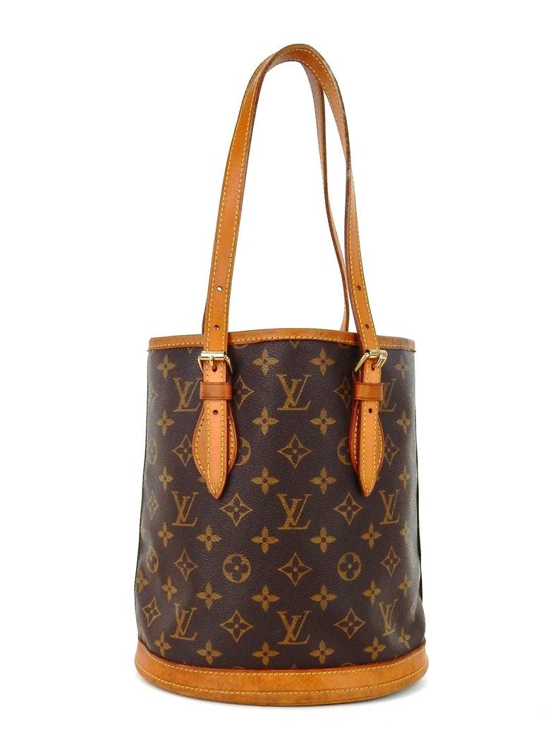 26b203d8f467 Authentic Vintage Louis Vuitton Bucket Pm Brown Monogram