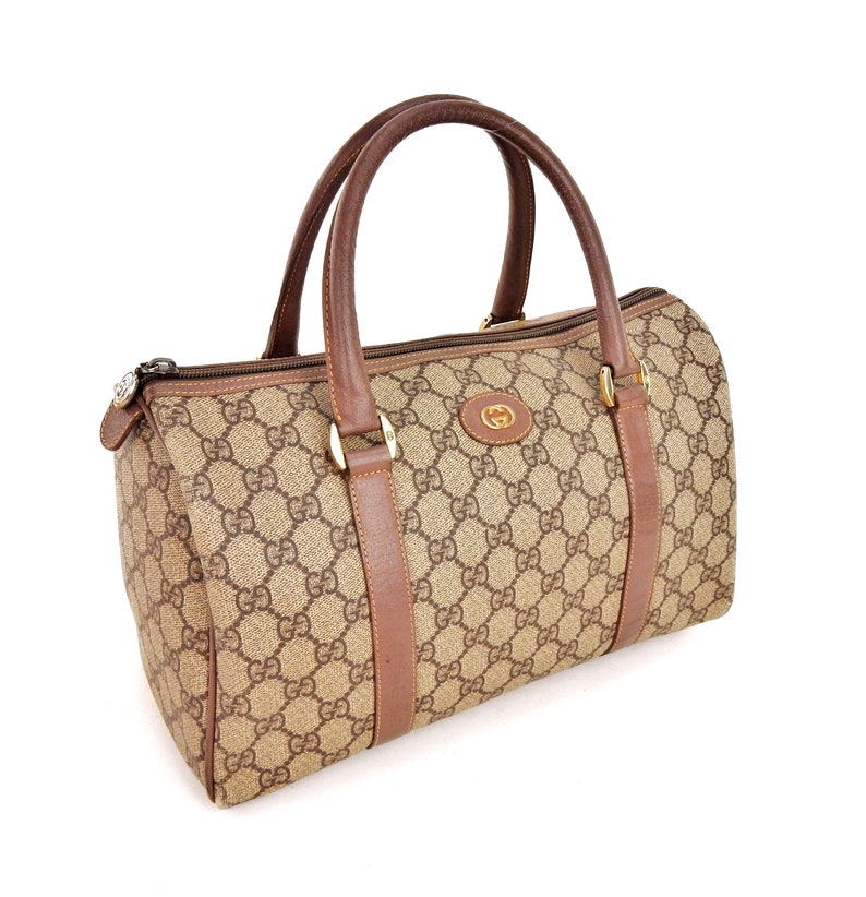 bc0081e1698 Authentic Vintage Gucci Supreme GG Signature Monogram Canvas